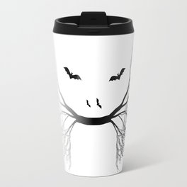Halloween Jungle Cat Abstract Travel Mug