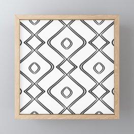 d940cb61db9 Modern Boho Ogee in Black and White Framed Mini Art Print