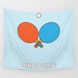 I am the sport! part1 ping pong  Wall Tapestry