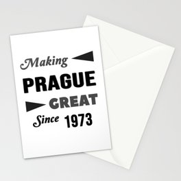 Making Prague Great Since 1973 Stationery Cards