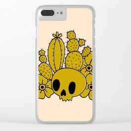 Skull and Cactus Clear iPhone Case