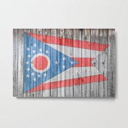 Ohio Flag Barn Wall Print Metal Print