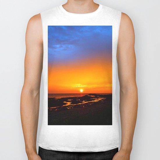 Sunrise on the Beach Biker Tank