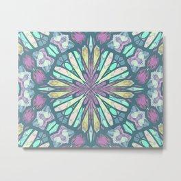 Purple Kaleidoscope Metal Print