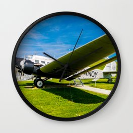 Lufthansa YU 52 Airport Munich Wall Clock