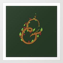 Natural Ampersand Art Print