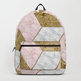 Dazzling marble geo - golden Backpack