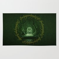 aragorn Area & Throw Rugs featuring Lord Of The Ring - Durin Gate by alifart