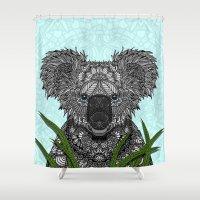 koala Shower Curtains featuring Koala by ArtLovePassion