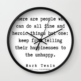 96    | Mark Twain Quotes | 190730 Wall Clock