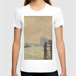 The Thames below Westminster (1871) by Claude Monet T-shirt