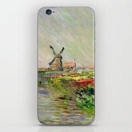 "Claude Monet ""Tulip field in Holland (Champ de tulipes en Hollande)"" iPhone Skin"