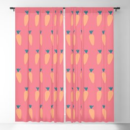 Carrot Easter Spring  Blackout Curtain