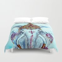 ganesh Duvet Covers featuring Ganesh by kirayoung
