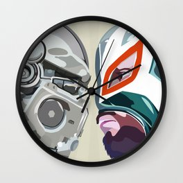 Robots vs. Wrestlers: The Best Tradition Ever Wall Clock