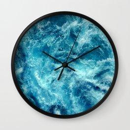 Ocean is shaking Wall Clock