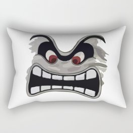 Ungry Face Rectangular Pillow