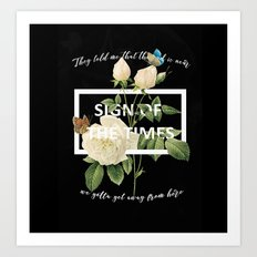 HARRY STYLES - Sign of the Times Art Print