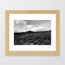 looking northwest. Framed Art Print