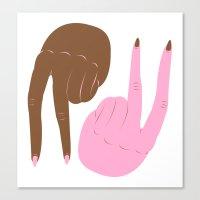 peace Canvas Prints featuring peace by Alba Blázquez