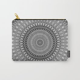 Grey mandala Carry-All Pouch