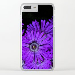 Purple succulent flowers watercolor effect Clear iPhone Case