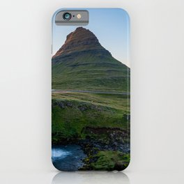 Kirkjufell mountain and waterfall in Iceland iPhone Case