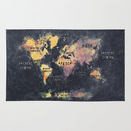 world map 12 Rug