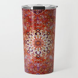Sunburst antique rug - rich reds and blues Travel Mug