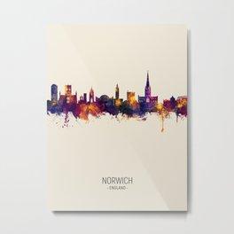 Norwich England Skyline Metal Print