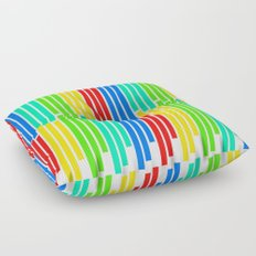 Statistically Colored Bars Floor Pillow