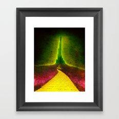 Dark Emerald Framed Art Print