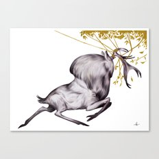 The Stag & His Reflection Canvas Print