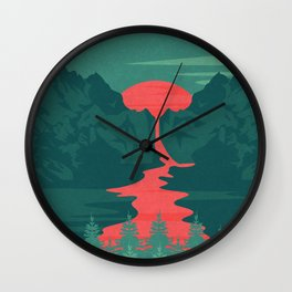 The Red River Wall Clock