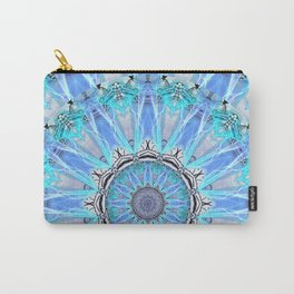 Sapphire Ice Flame, Light Bright Crystal Wheel Carry-All Pouch