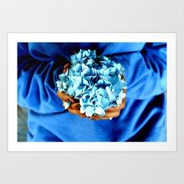 Things of Blue  Art Print