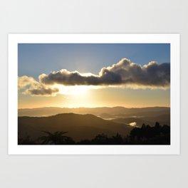 Sunrise over Coromandel Art Print