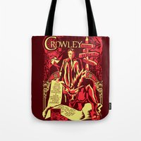 crowley Tote Bags featuring Crowley by Tracey Gurney