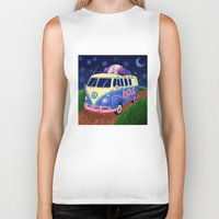 van Biker Tanks featuring Hippie Van by whiterabbitart