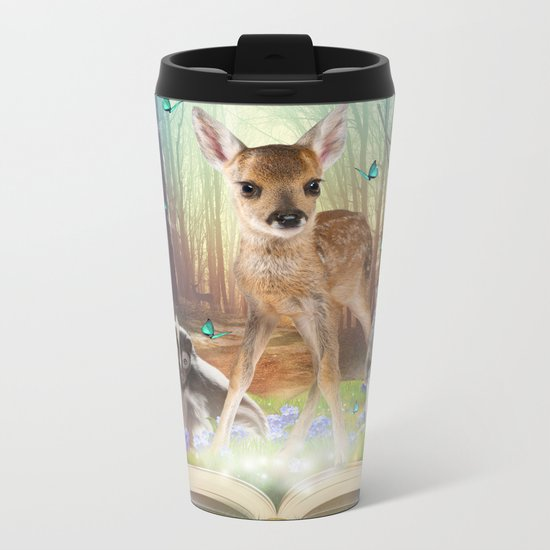 Believe In Magic • (Bambi Forest Friends Come to Life) Metal Travel Mug