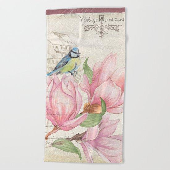 Macro flower #10 Beach Towel