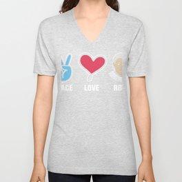 I Love Ruth Bader Ginsburg RBG Gift Design Idea RBG!  print Unisex V-Neck