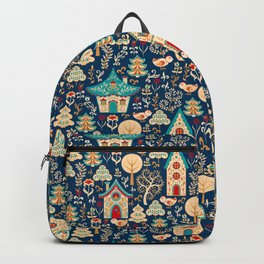 Fabulous Houses in a Magical Forest. Backpack
