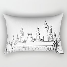 fabulous city . art . black and white Rectangular Pillow