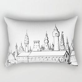 fabulous city . art . black and white Rectangular Pillow