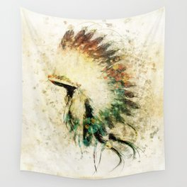 Native American Boho Headdress Sideview Wall Tapestry
