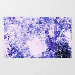 Blue trees Rug