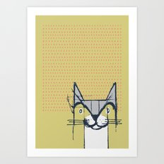 Cubist Cat Study #6 by Friztin Art Print