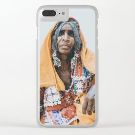 Indian Tribal Woman Clear iPhone Case