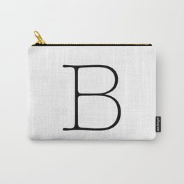Letter B Typewriting Carry-All Pouch